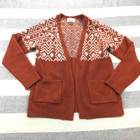 d618204c07 Olive   Oak Open Cardigan Sweater Orange Cream. M 5a654581a4c4850ae91a6a5a